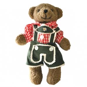 Bayerische Teddy Buam rotes Trachtenhemd 22cm