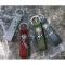 Schlüsselanhänger Edelweiss Anthrazit mit Frau
