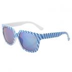 Bayerische Rautensonnenbrille verspiegelt blau