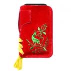 Lederhosen Smartphone Tascherl (rot/grün)