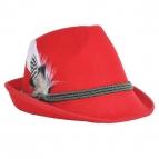 Trachtenhut Tiroler Style rot 55