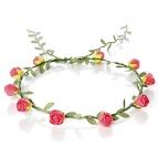 Blütenhaarkranz farbig (rot, apricot, rosa, gelb, hellblau)  rot