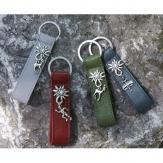 Schlüsselanhänger Edelweiss Grau mit Reh