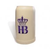 Hofbräuhaus Bierkrug HB salzglasiert 0,5l