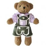 Bayerischer Teddy Buam Lila Trachtenhemd 22cm