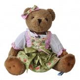 Bayerischer Teddy-Bär Johanna Tracht Dirndl, 40 cm