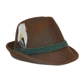 Trachtenhut Tiroler Style braun melliert