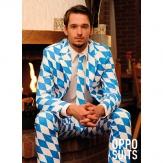 Bayerischer Anzug mit blau / weißem Rautenmuster