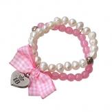 Hofbräuhaus Armband Perle mit Vichy rosa